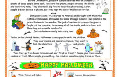 Halloween – Reading – English Esl Worksheets For Distance
