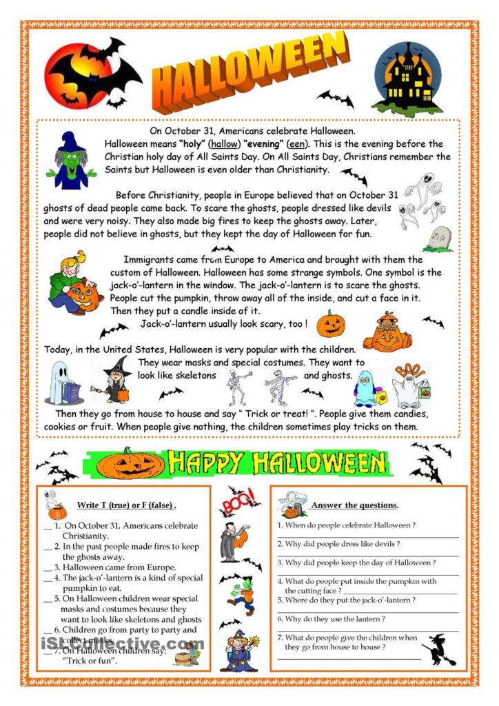 Halloween   Reading | Halloween Worksheets, Halloween