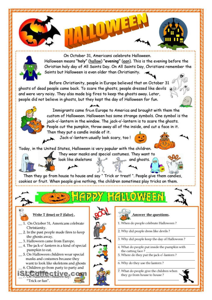 Halloween   Reading   Halloween Worksheets, Halloween