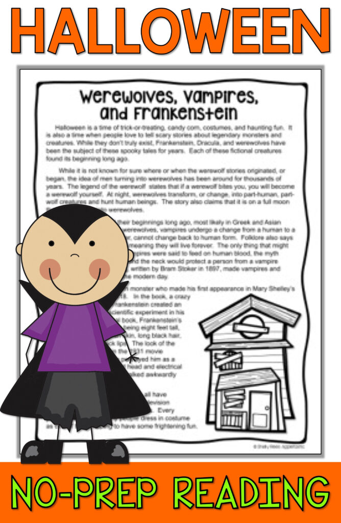 Halloween Reading Packet   Halloween Reading Comprehension