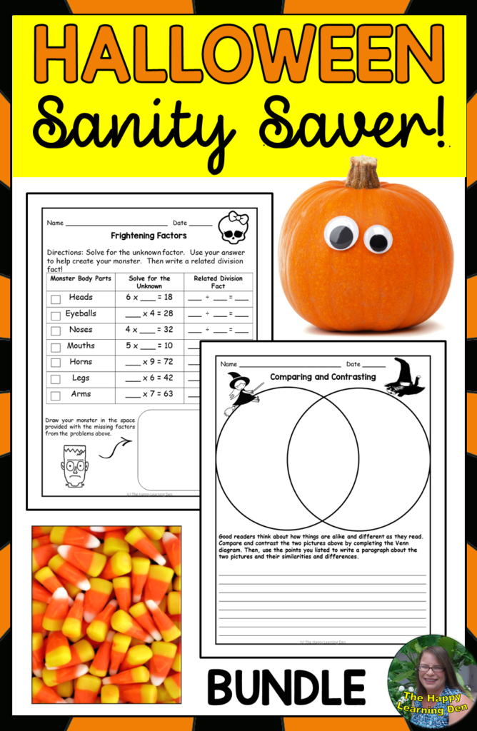 Halloween Reading, Writing, And Math Activities And