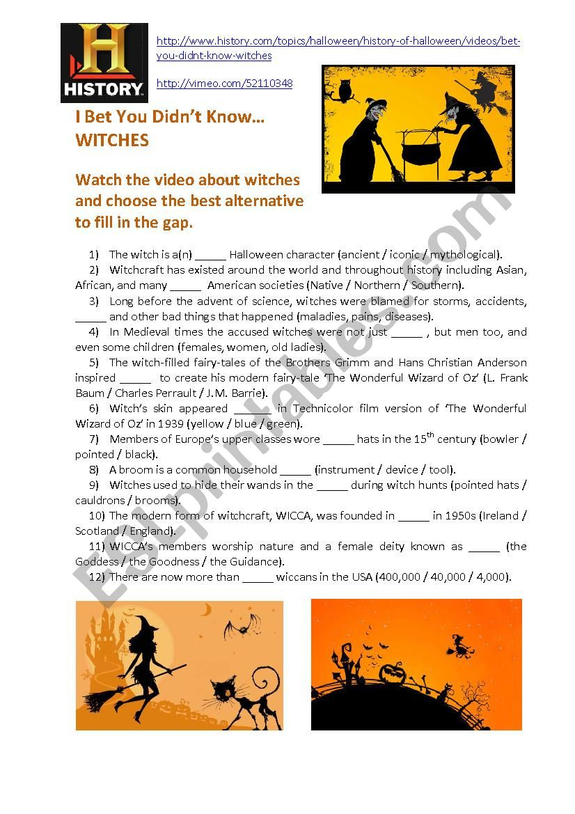 Halloween-Related Video: I Bet You Didn't Know… Witches