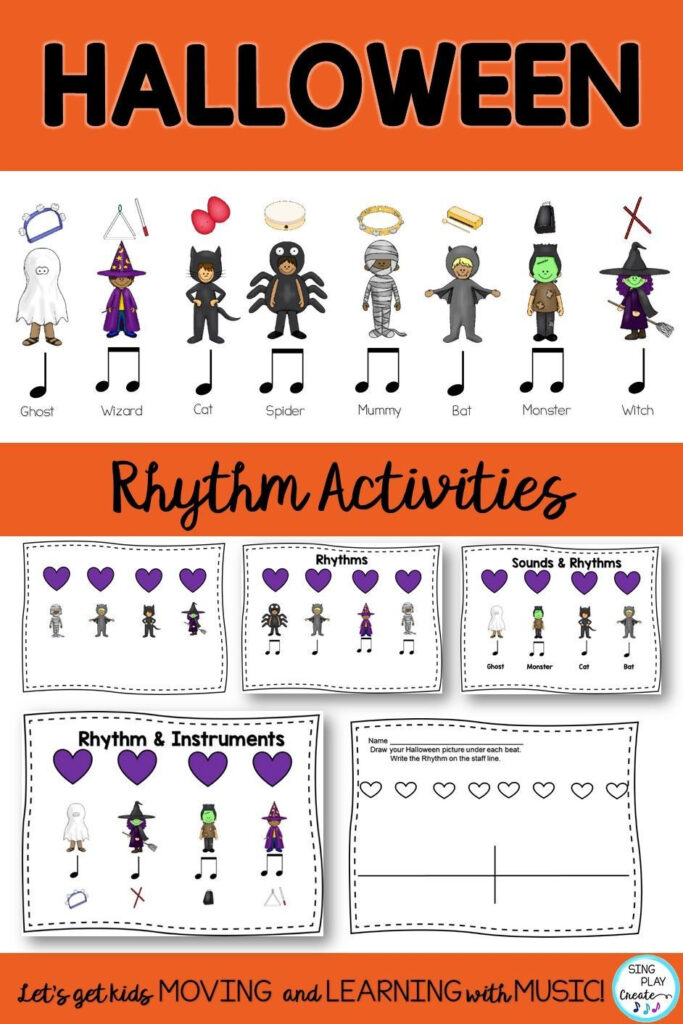 Halloween Rhythms For Your Music Class. Instrument Fun To