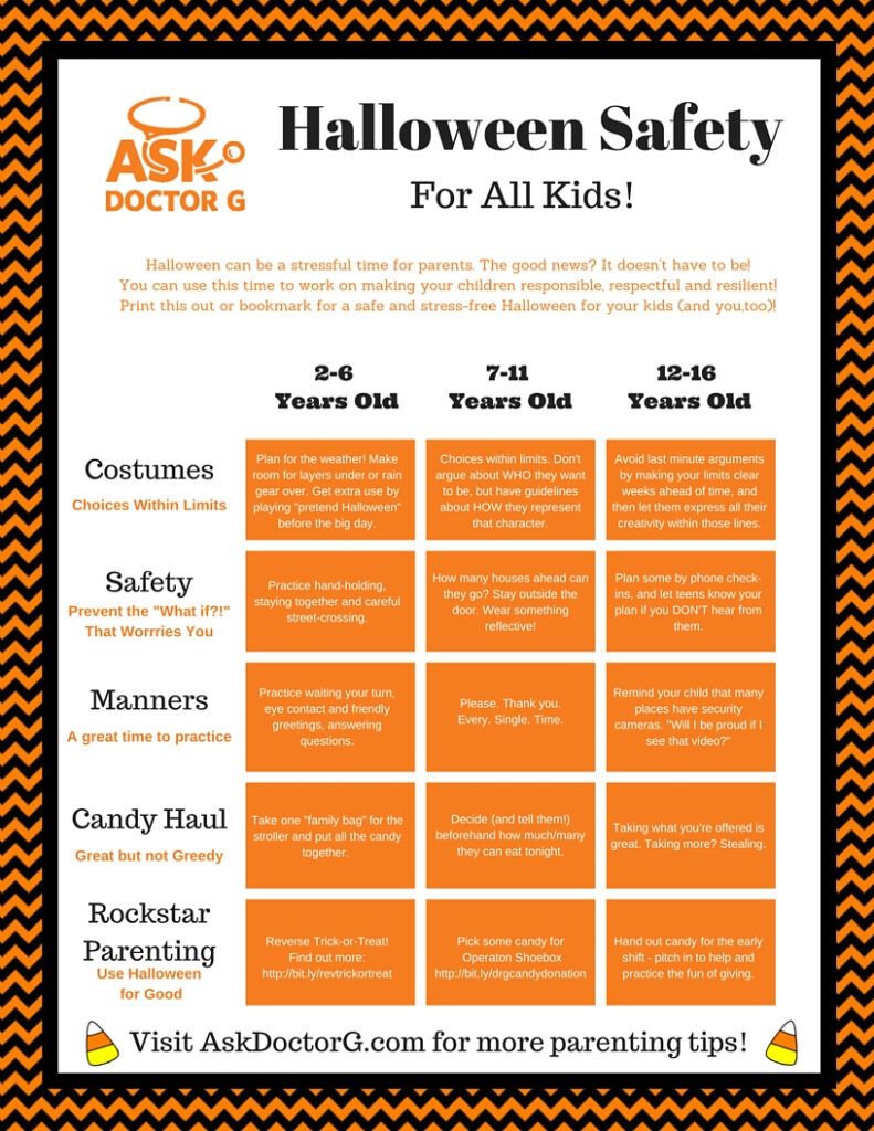 Halloween Safety 101 (Plus A Free Printable Tip Sheet)   Ask