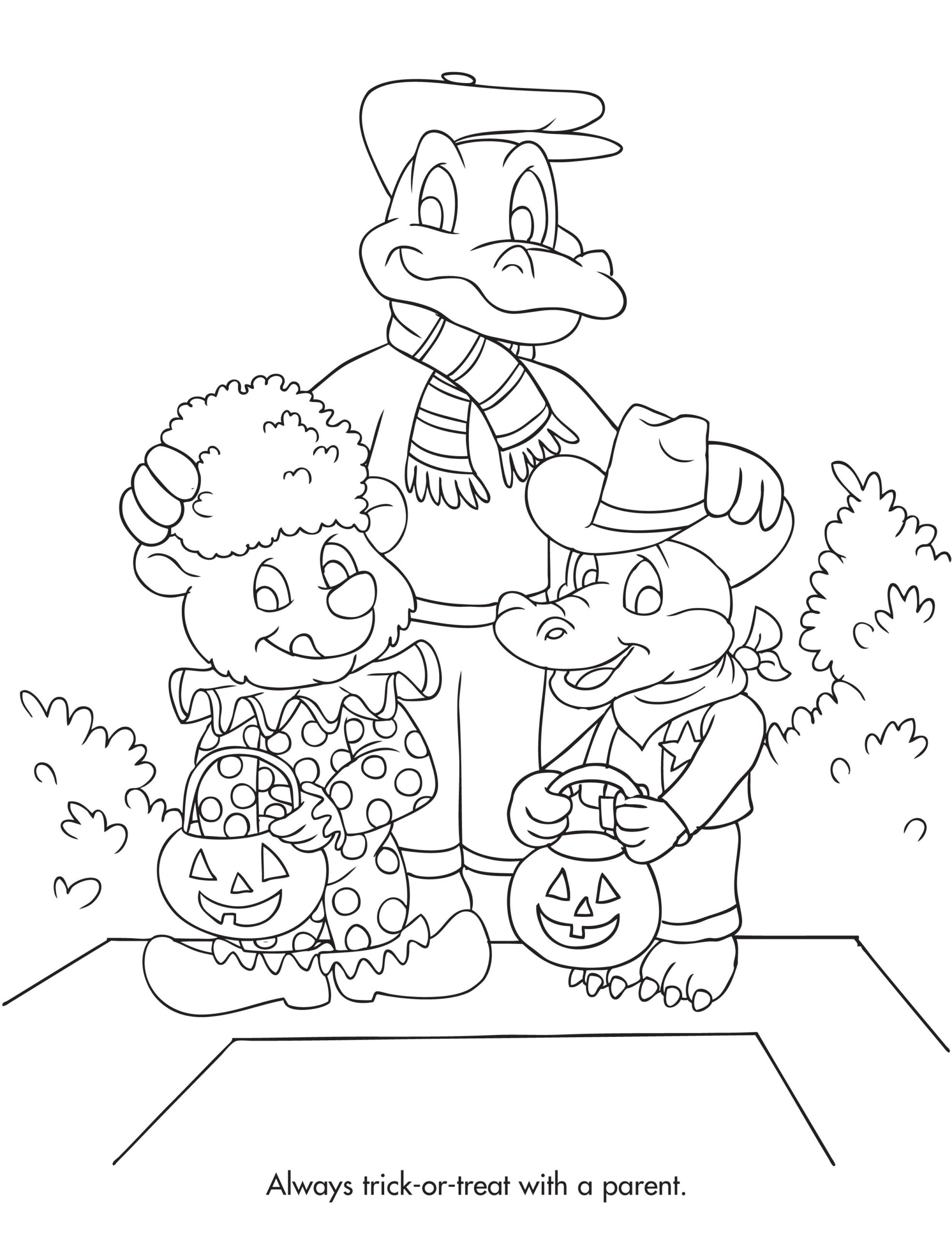 Halloween Safety Coloring Page   Halloween Safety, Monster