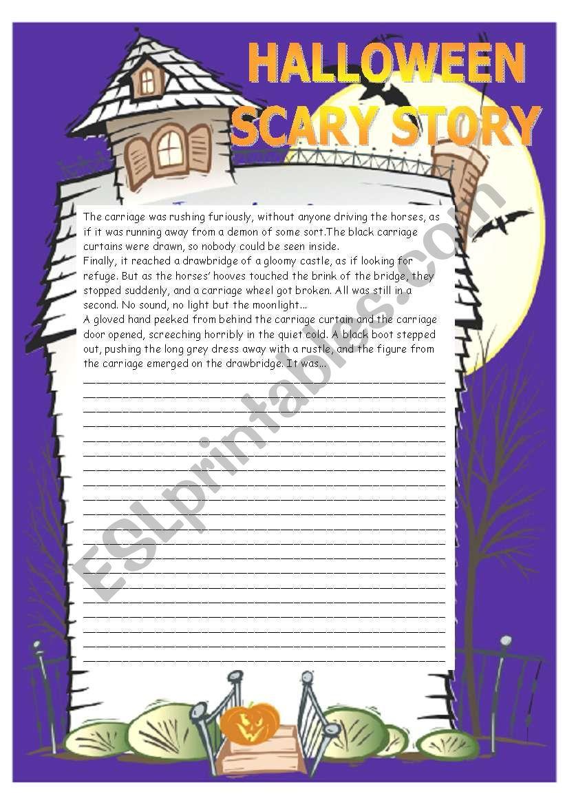 Halloween Scary Story Worksheet - Esl Worksheetanitarobi