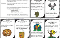 Halloween Hunt Worksheet