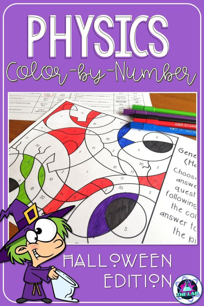 Halloween Science General Physics Color By Number   Middle