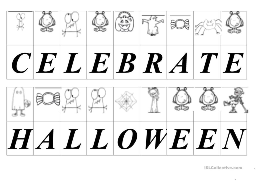 Halloween Secret Message Decoding   English Esl Worksheets