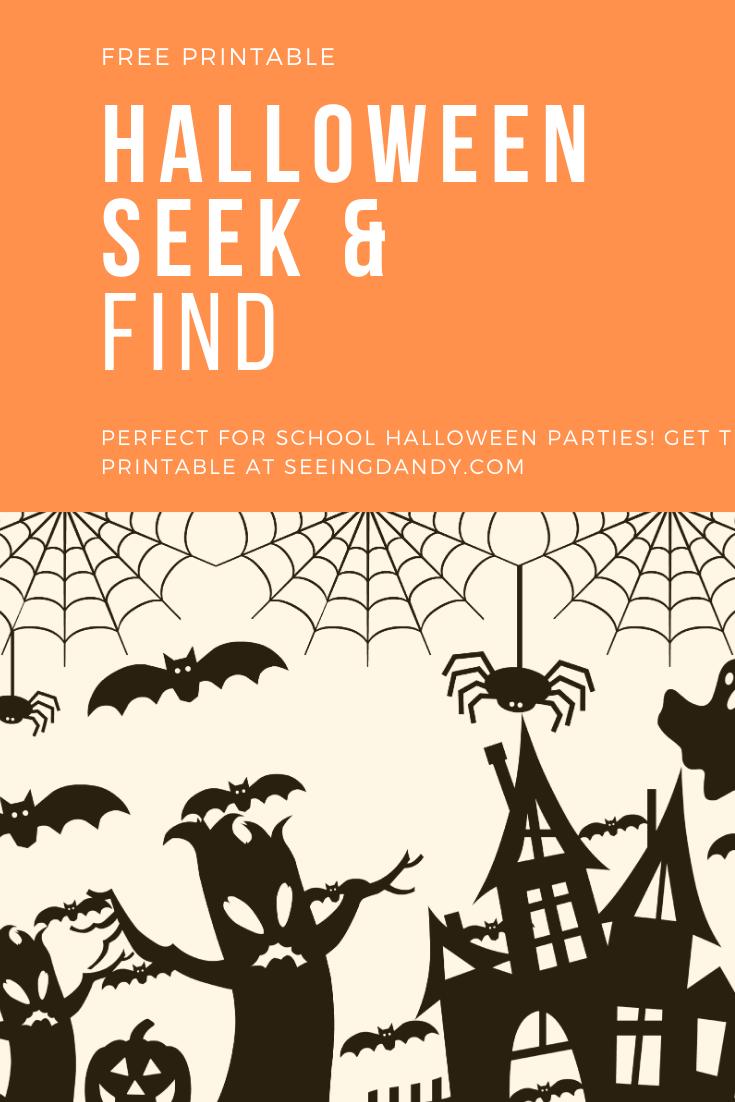 Halloween Seek And Find Printable For Kids - Seeing Dandy