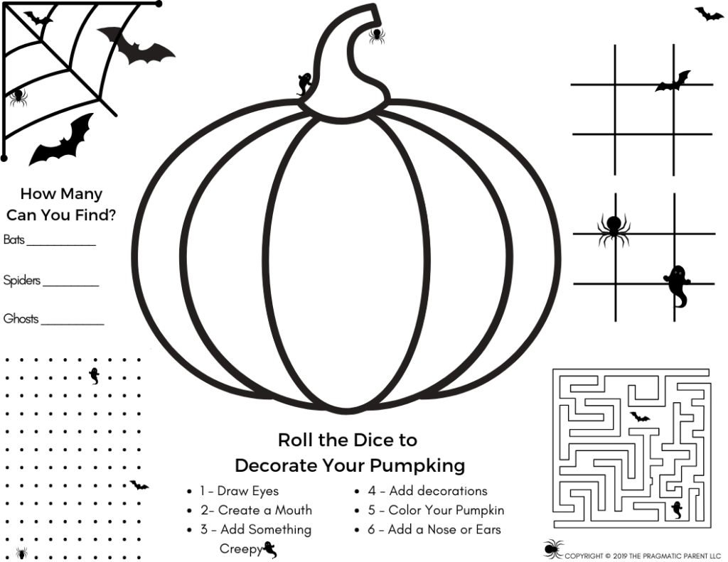 Halloween Set: Halloween Activity Page & 4 Halloween