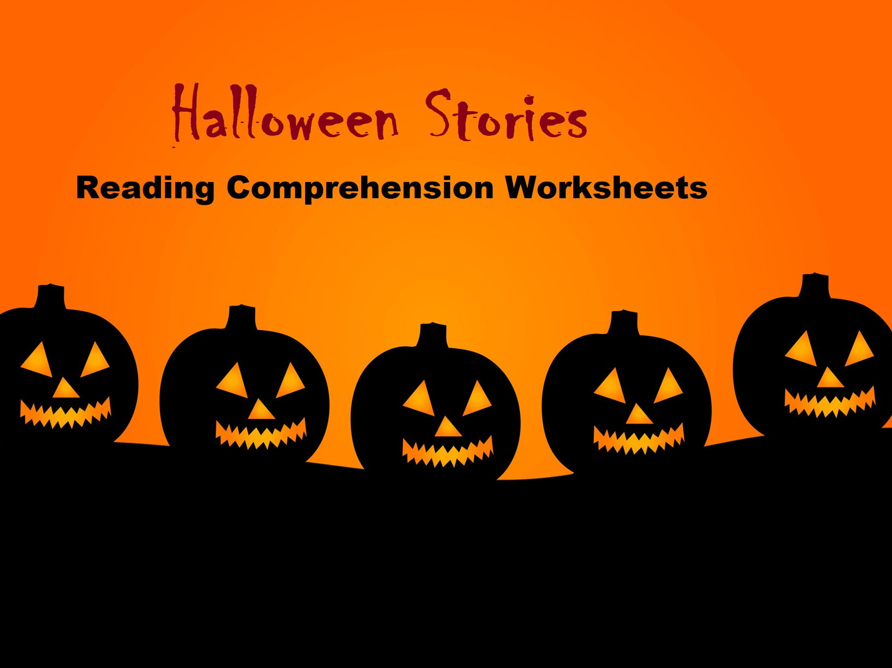 Halloween Stories - Reading Comprehension Worksheets (Save 65%)