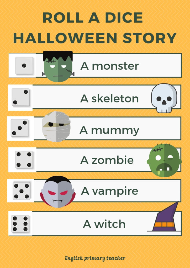 Halloween Story: Roll A Dice – English Primary Teacher
