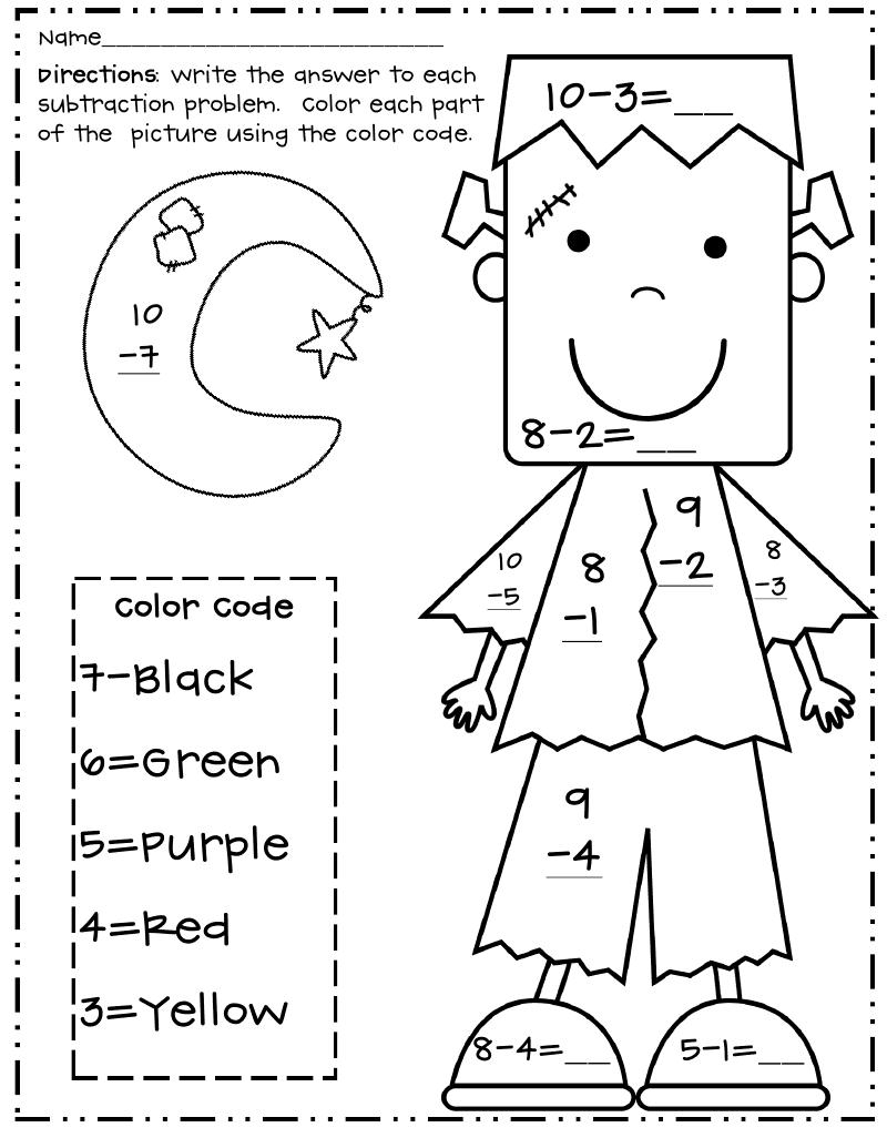 Halloween Subtraction Colornumber Frank.pdf | Halloween
