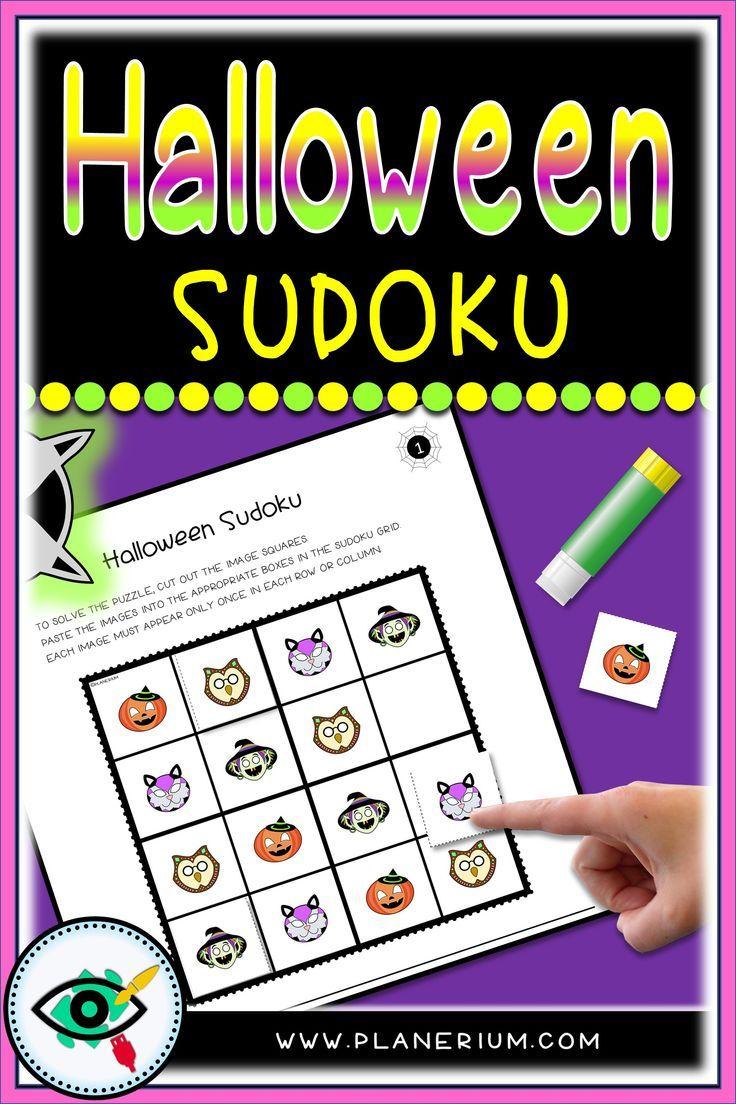 Halloween - Sudoku - Halloween Characters | Planerium In