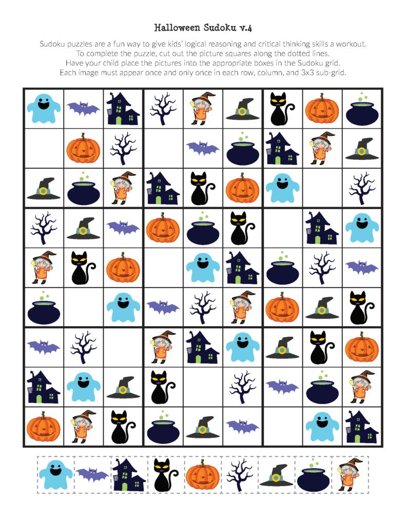 Halloween Sudoku Puzzles   Gift Of Curiosity