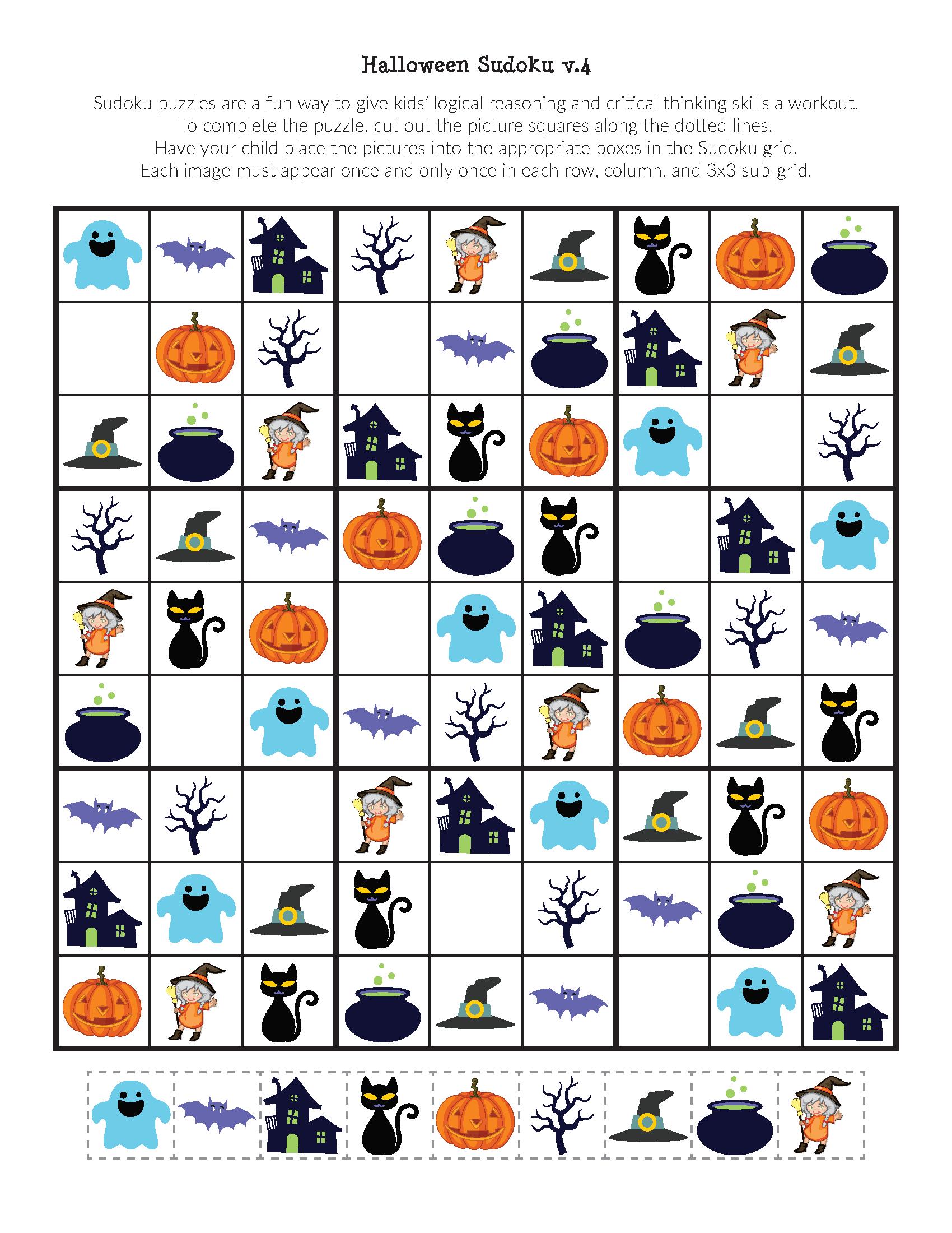 Halloween Sudoku Puzzles - Gift Of Curiosity