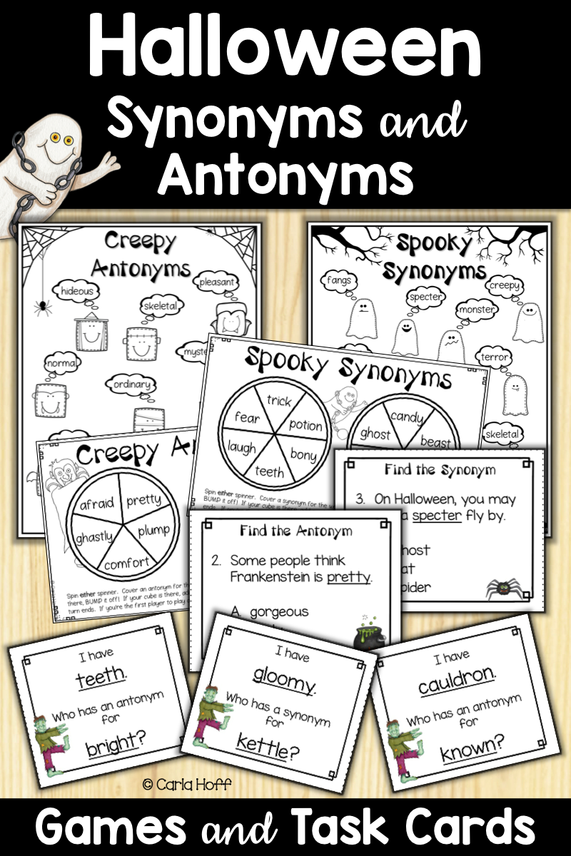 Halloween Synonyms & Antonyms Games | Synonyms And Antonyms