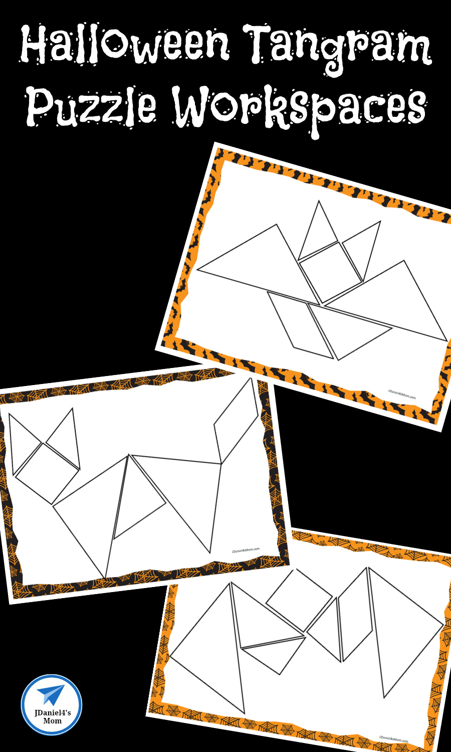Halloween Themed Printable Tangram Puzzles - Jdaniel4S Mom