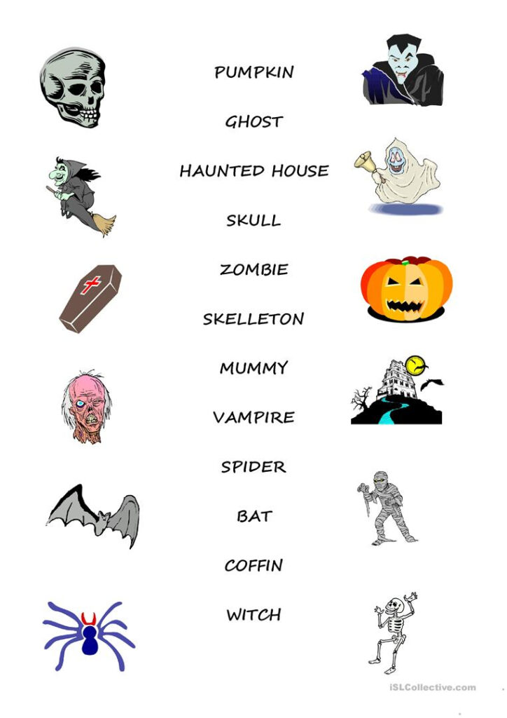 Halloween Vocabulary   English Esl Worksheets For Distance