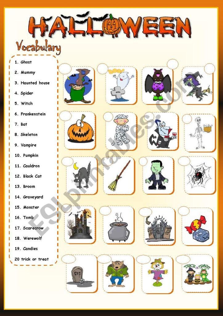 Halloween Vocabulary *   Esl Worksheetllkristianll