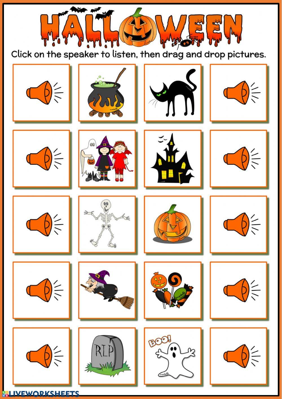 Halloween Vocabulary Interactive Worksheet