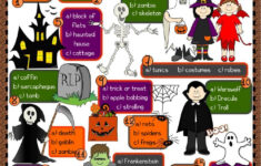Halloween Vocabulary Worksheet Esl