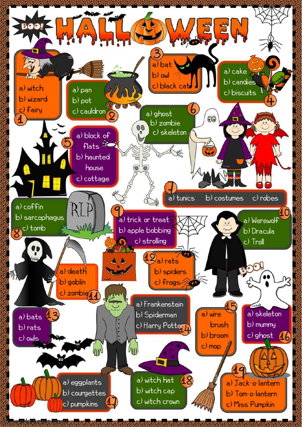 Halloween - Vocabulary Worksheet