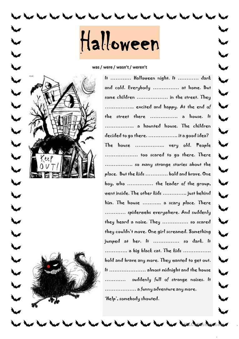 Halloween Was / Were - English Esl Worksheets For Distance