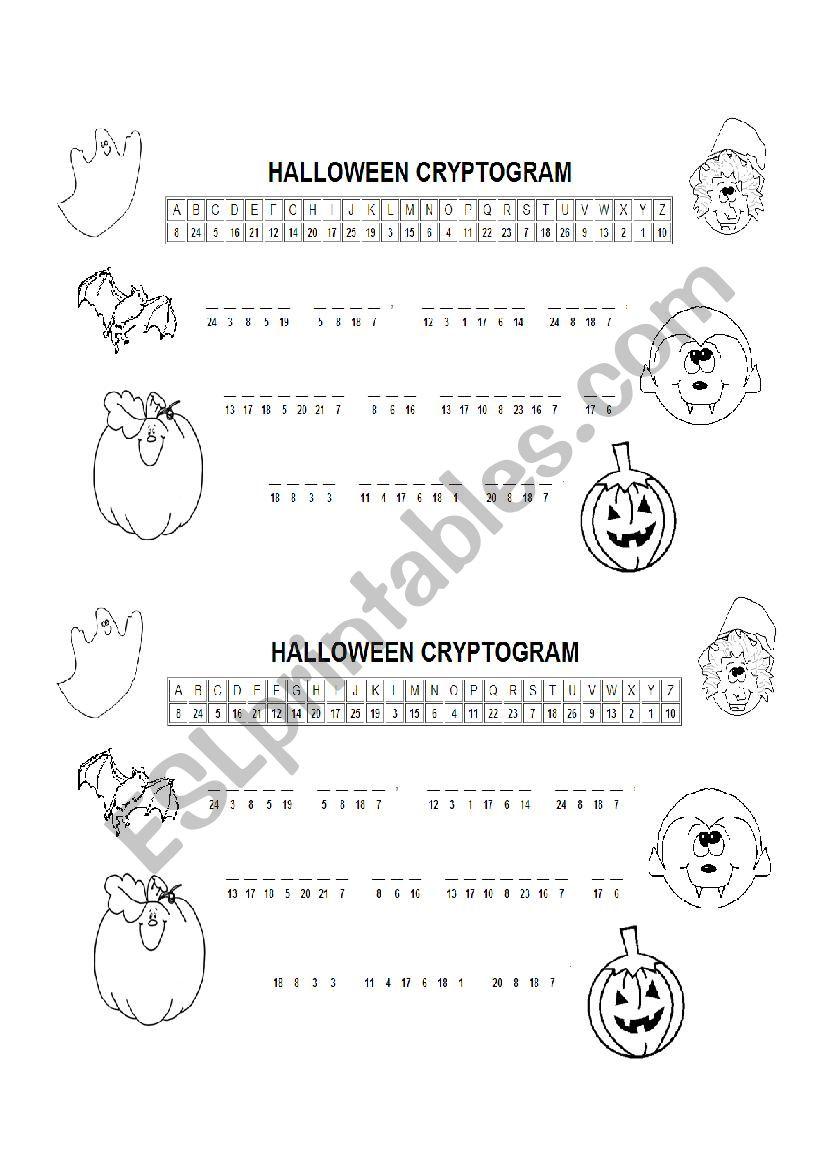 Halloween - What´s The Secret Message? - Esl Worksheet