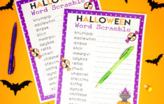 Halloween Word Scramble For Kids – Happiness Is Homemade