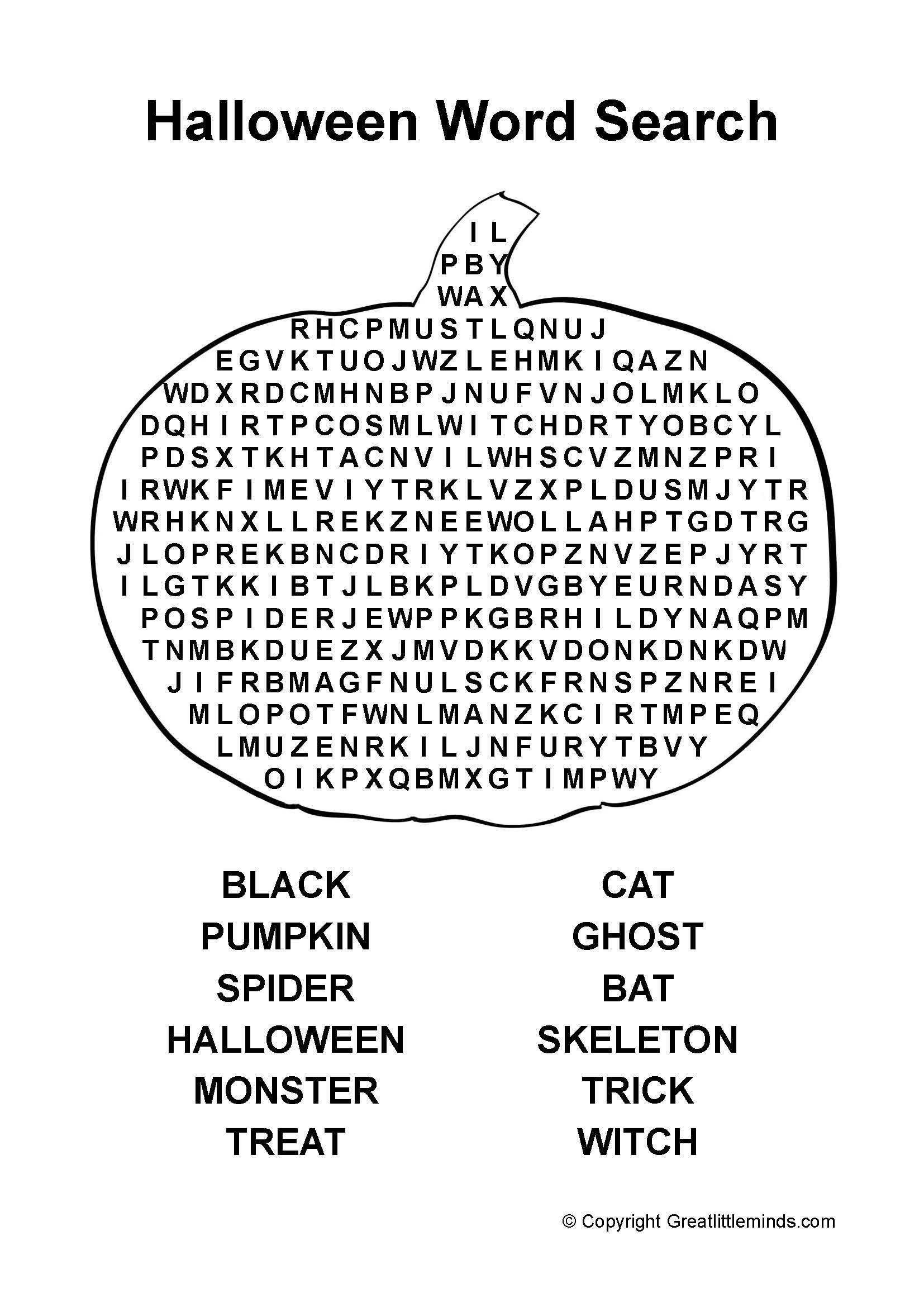 Halloween Word Search Pdf | Halloween Word Search, Halloween