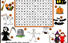 Halloween Vocabulary Printable Worksheets