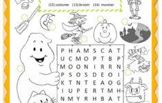 Halloween Printable Worksheets Esl