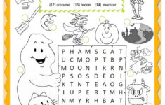 Worksheet On Halloween Printables Free