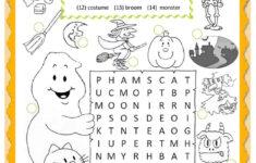 Worksheet On Halloween Printables Free
