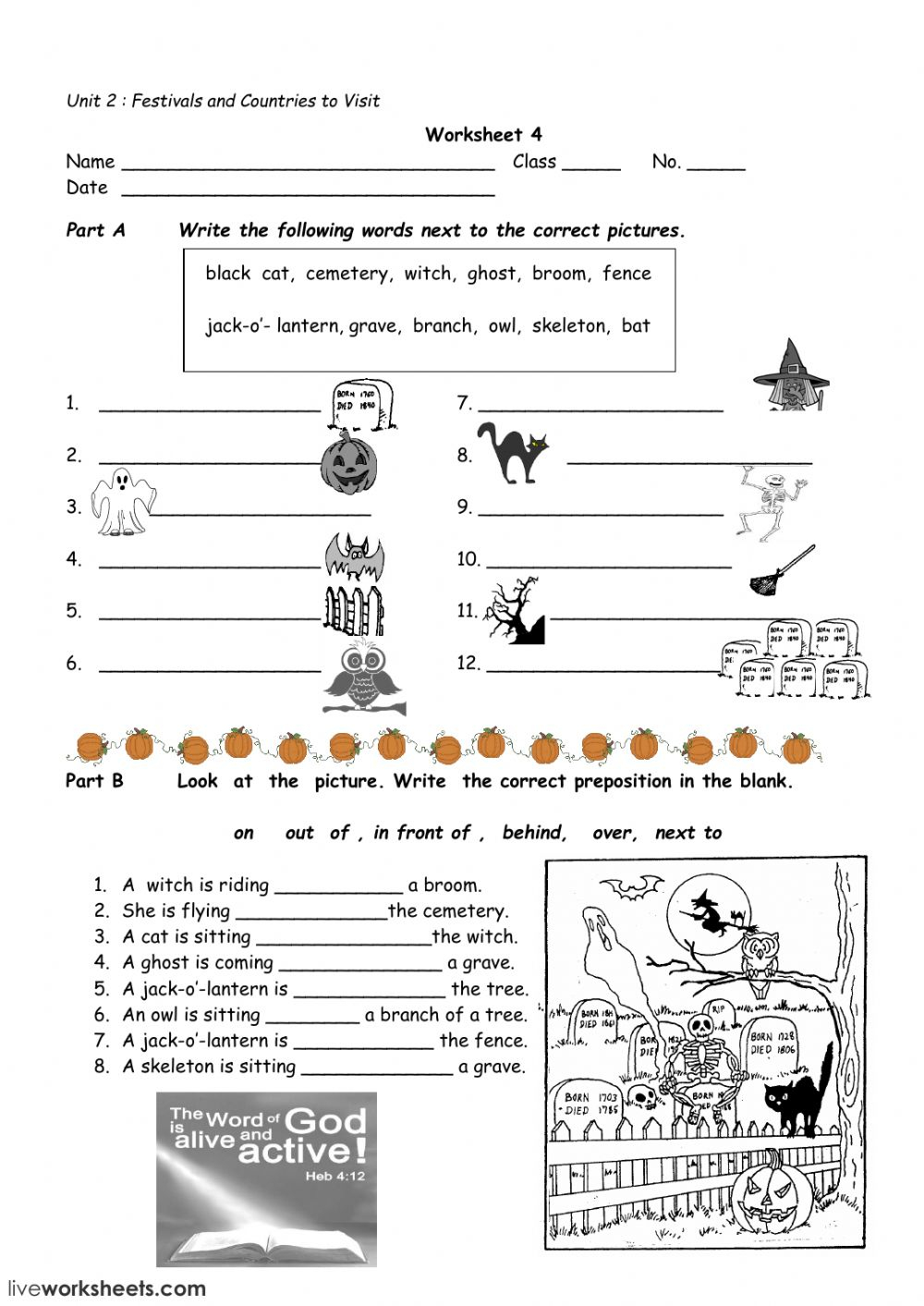 Halloween Worksheet 4 Worksheet