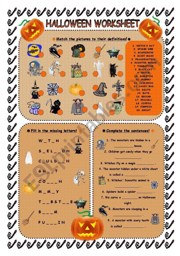 Halloween Worksheet   Esl Worksheetandrea Cro
