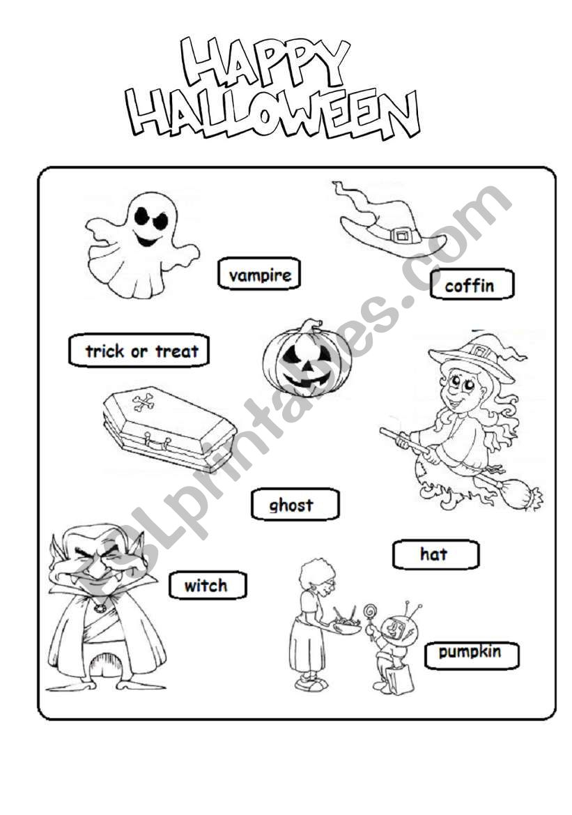 Halloween Worksheet - Esl Worksheetsubforlove