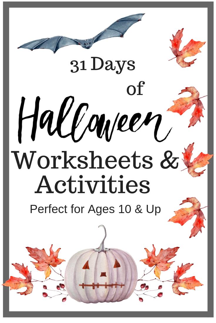 Halloween Worksheets & Activities For Older Kids Free