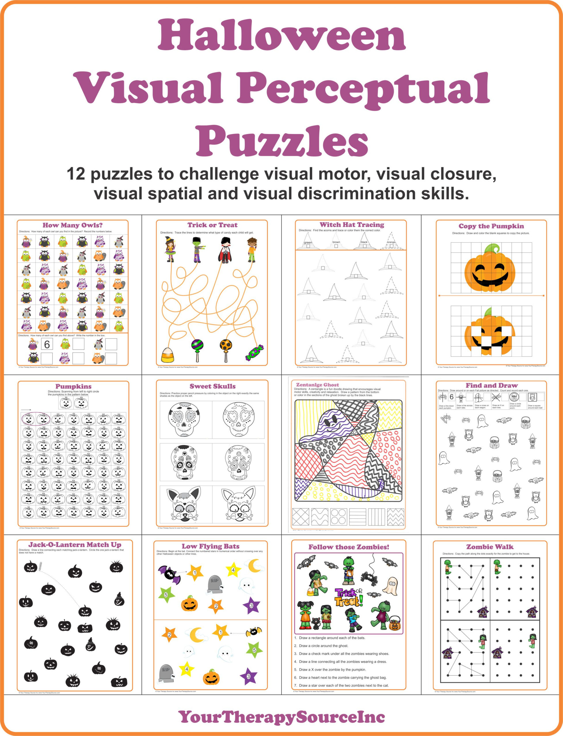 Halloween Worksheets And Activities Bundle