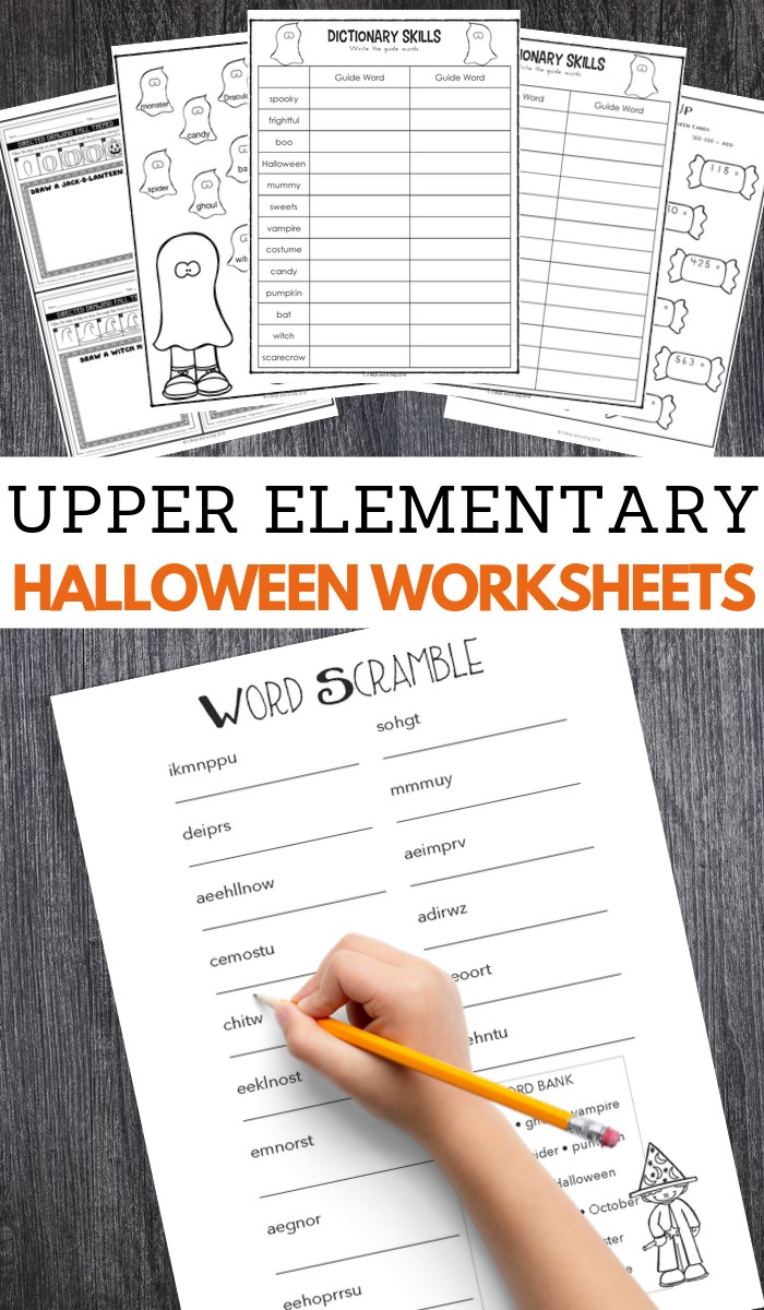 Halloween Worksheets For Upper Elementary – 3 Boys And A Dog
