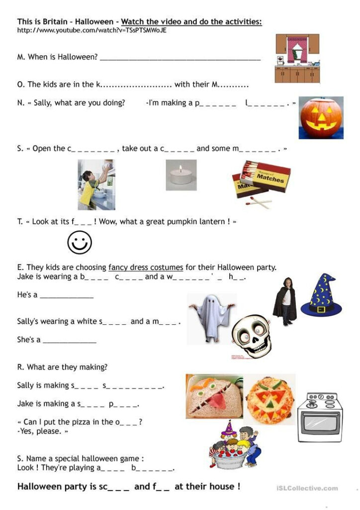Halloween Worksheets Pdf British Council This Is Britain