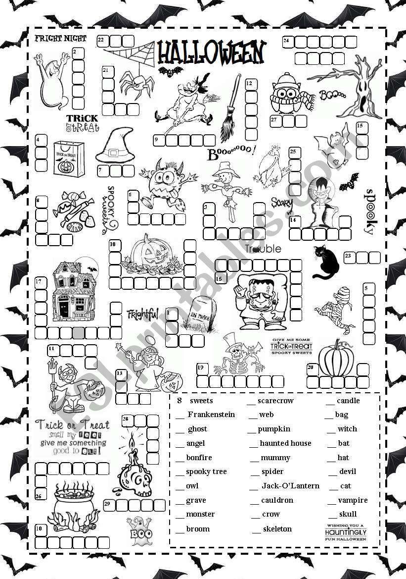 Halloween Worksheets Pdf Free Halloween Esl Worksheet