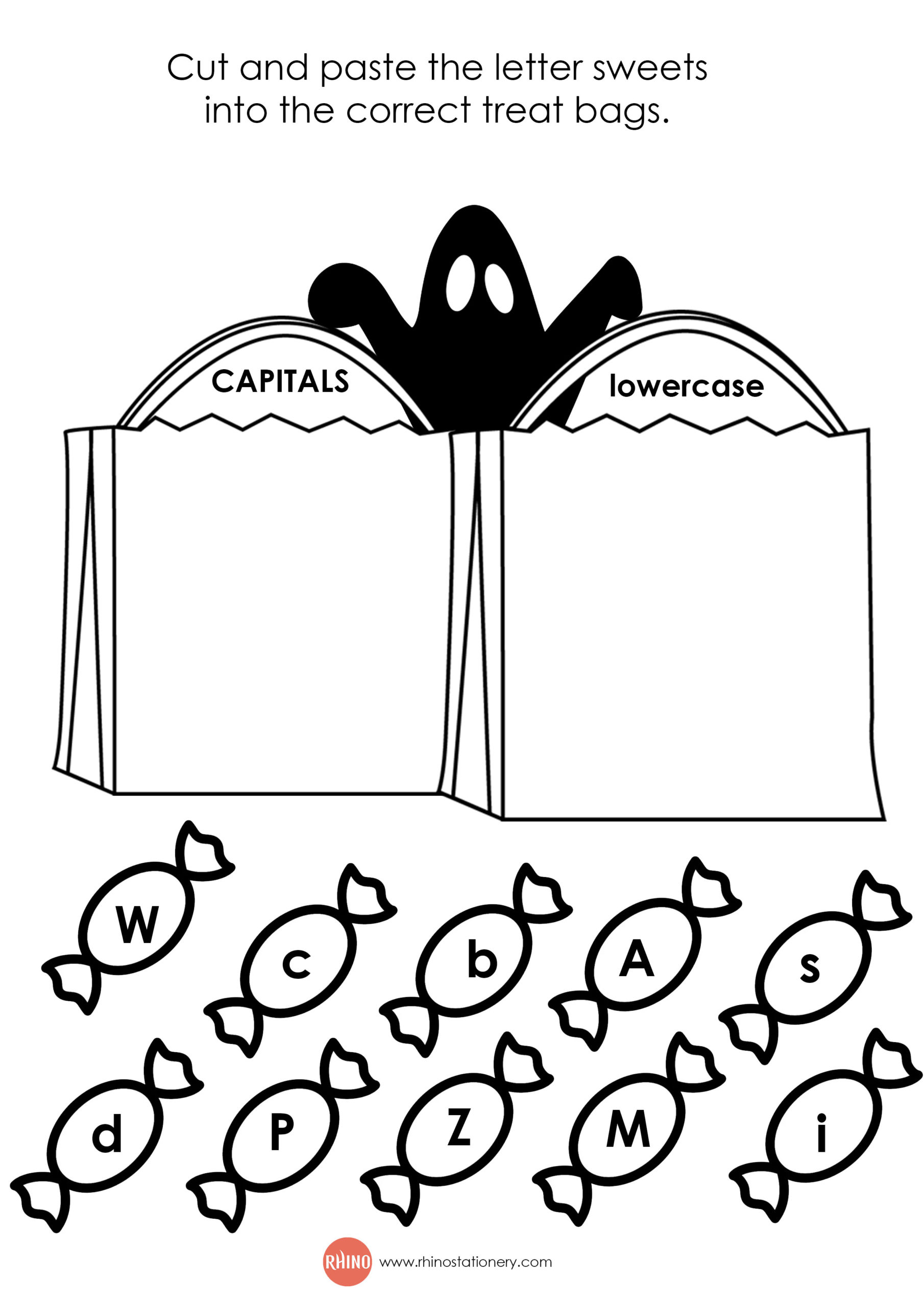 Halloween Worksheets Rhino Stationery Free Printable Trick