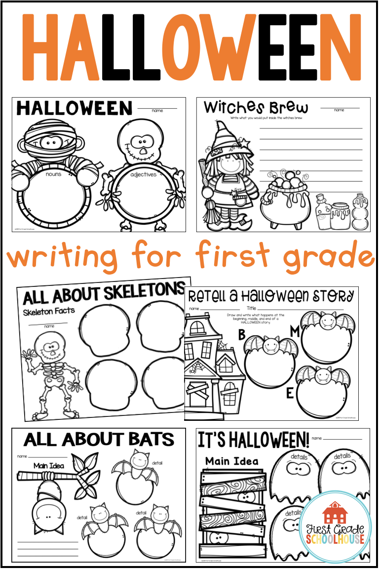 Halloween Writing For First Grade Is Filled With Fun Writing