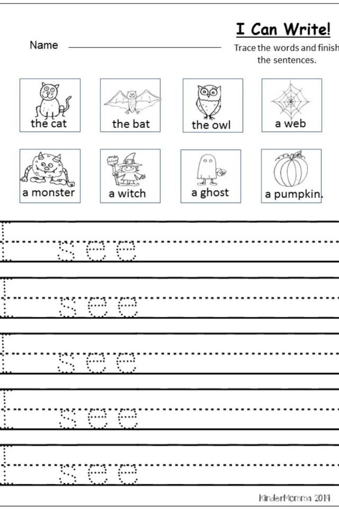Halloween Writing For Kindergarten In 2020 | Halloween