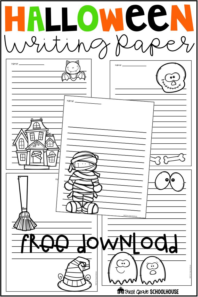 Halloween Writing Paper Free | Halloween Writing, Halloween