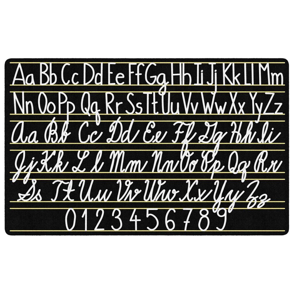 "Handwriting Sampler Rug   6'w X 8' 4""l | Schoolsin"