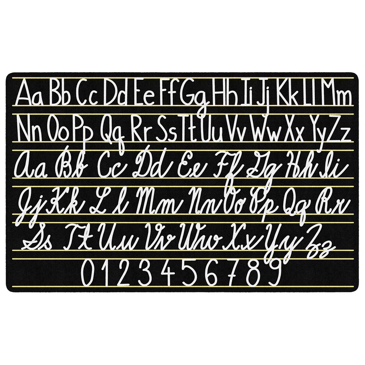 "Handwriting Sampler Rug - 6'w X 8' 4""l | Schoolsin"